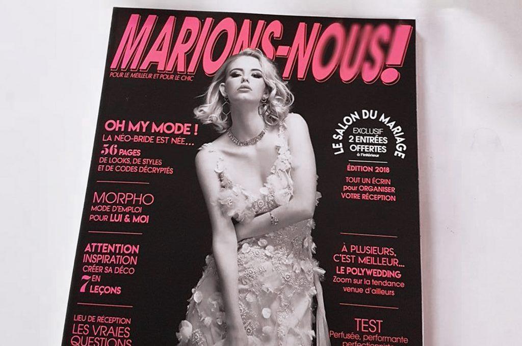 couverture robe de mariée bohême magazine marions-nous