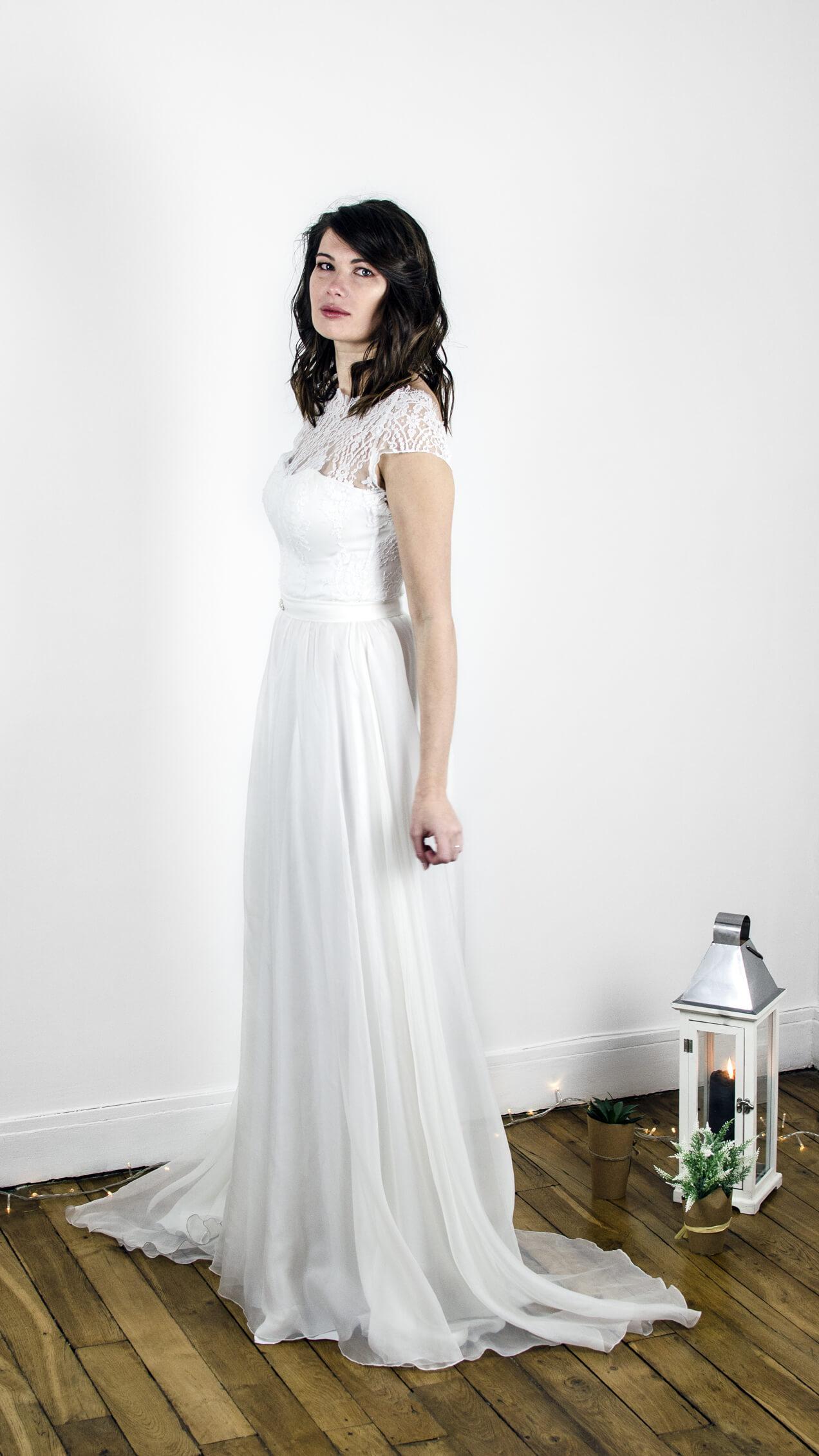 robe de mariée bohème, fluide, dentelle