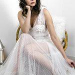robe de mariée, robe sirène, brodée