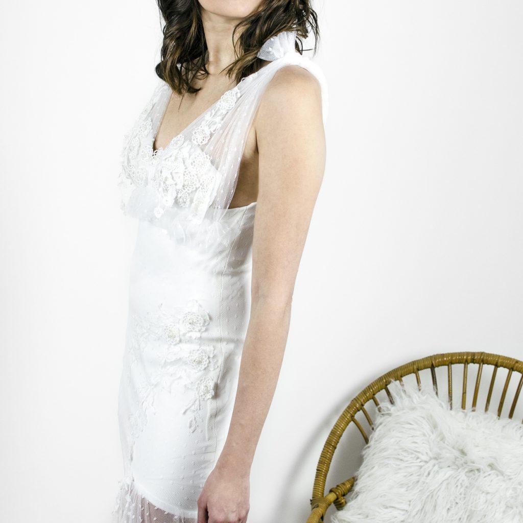 robe de mariée, robe sirène, brodée,